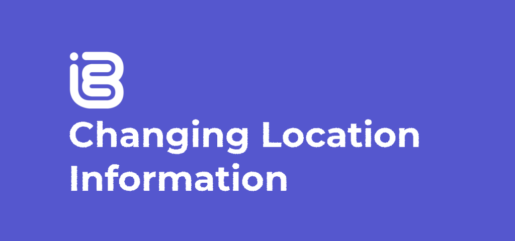 Changing Location Information