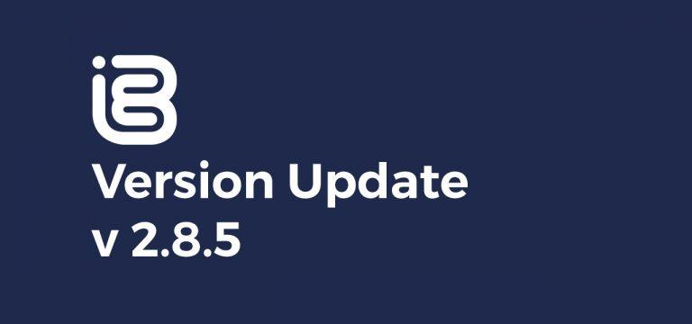 Version Update – 2.8.5